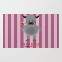 taurus Area & Throw Rugs featuring Taurus by Esther Ilustra