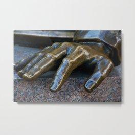 Man Hands Metal Print
