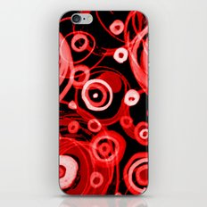 Just Red in the Round iPhone & iPod Skin