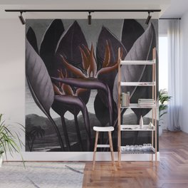 Birds of Paradise : Temple of Flora Dark Wall Mural