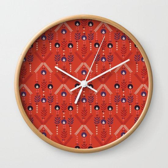 Flora Nativa Wall Clock