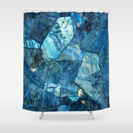 Labradorite Blue Shower Curtain