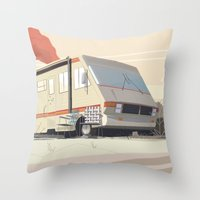 breaking Throw Pillows featuring Breaking Bad by Fabiano Souza