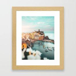 Sunrise in Vernazza, Cinque Terre Italy Framed Art Print