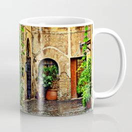 Vintage street in Rome, after Rain Coffee Mug