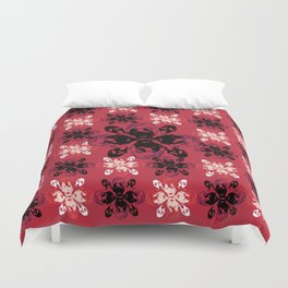Mean Bitches - Gail Weather Scream Flower Duvet Cover