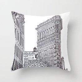 Flatiron, New York Throw Pillow