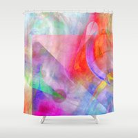funky Shower Curtains featuring Funky Art  by Christine baessler