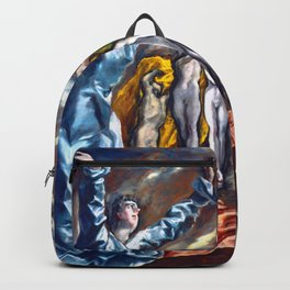 """El Greco (Domenikos Theotokopoulos) """"The Vision of Saint John or The Opening of the Fifth Seal"""" Backpack"""