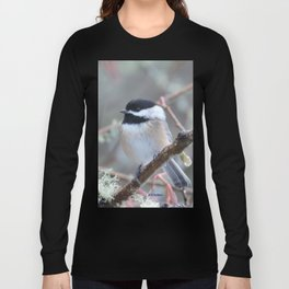 Chickadee in the Alder Tree Long Sleeve T-shirt