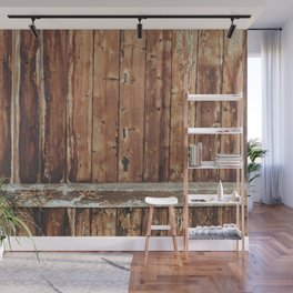 Aged Wooden Fence Wall Mural