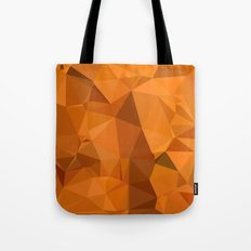 Dark Orange Carrot Abstract Low Polygon Background Tote Bag