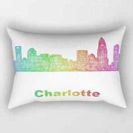 Rainbow Charlotte skyline Rectangular Pillow