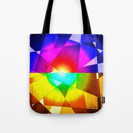 lined color flash forms and shapes attack Tote Bag