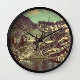 high sierras  Wall Clock