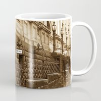 melbourne Mugs featuring Collins St, Melbourne, Australia by SwanniePhotoArt