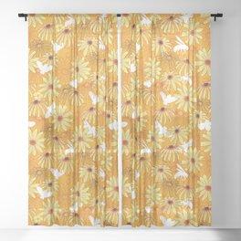 Pollinator Blooms Sheer Curtain