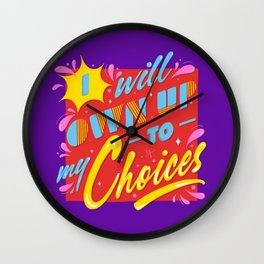 Own Up! Wall Clock