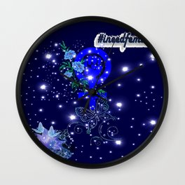 #IneedFeminism - Blue Bloom Wall Clock