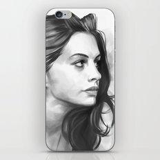 Anne Hathaway minimalist illustration iPhone & iPod Skin