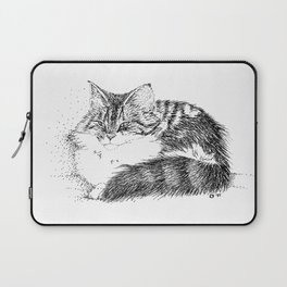 Maine Coon Cat - Pen and Ink Laptop Sleeve