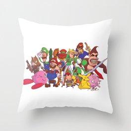 Super Smash Bros Throw Pillow