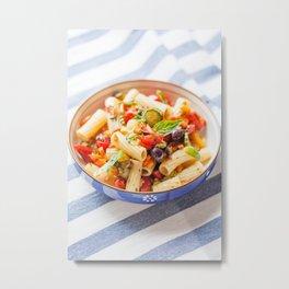Rigatoni Pasta Salad Metal Print