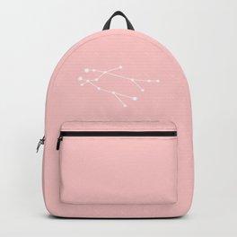 Gemini Star Sign Soft Pink Backpack