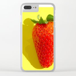 Warm Stawberry Clear iPhone Case