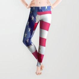 United States Freedom Flag Leggings