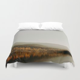 The Faded Forest on a River (Color) Duvet Cover