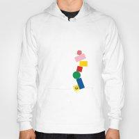 pixel Hoodies featuring Pixel by Pierre-Emmanuel Lyet
