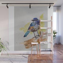 Himalayan Bluetail Bird- in watercolor Wall Mural