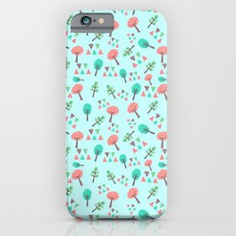 Digital Art Trees for Kids iPhone Case