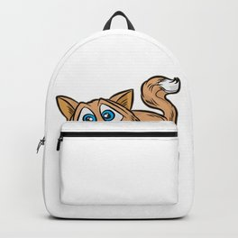 Cute Crazy Mad Cat Kitty Tabby Cartoon Comic Gift Backpack