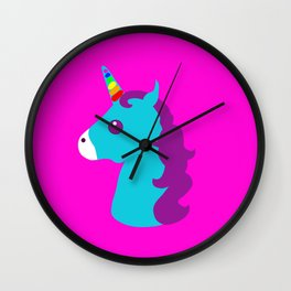 Portrait  of a Unicorn Wall Clock