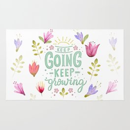 Keep Going Keep Growing Rug