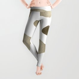 Golden cow hide print Leggings