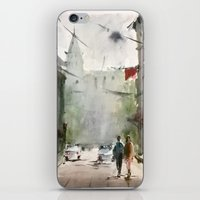 street iPhone & iPod Skins featuring Street by Baris erdem