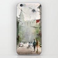 street art iPhone & iPod Skins featuring Street by Baris erdem