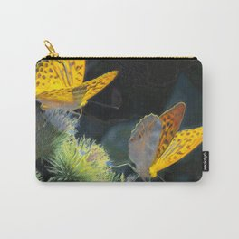 Orange Butterflies IV Carry-All Pouch