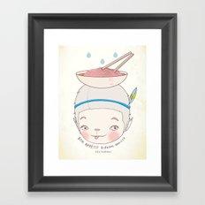 맛! Bon appetit bizarre nouille restaurant ! Framed Art Print