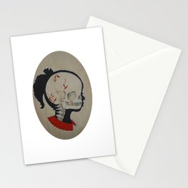 Girl Next Door = Silhouette and Anatomy Love Painting Stationery Cards