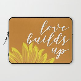 Love Builds Up - Yellow Sunflower Laptop Sleeve