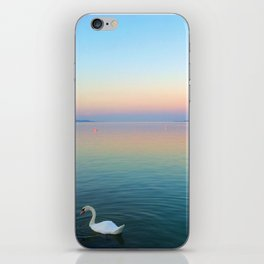 Swan in the Lake at Sunset iPhone Skin