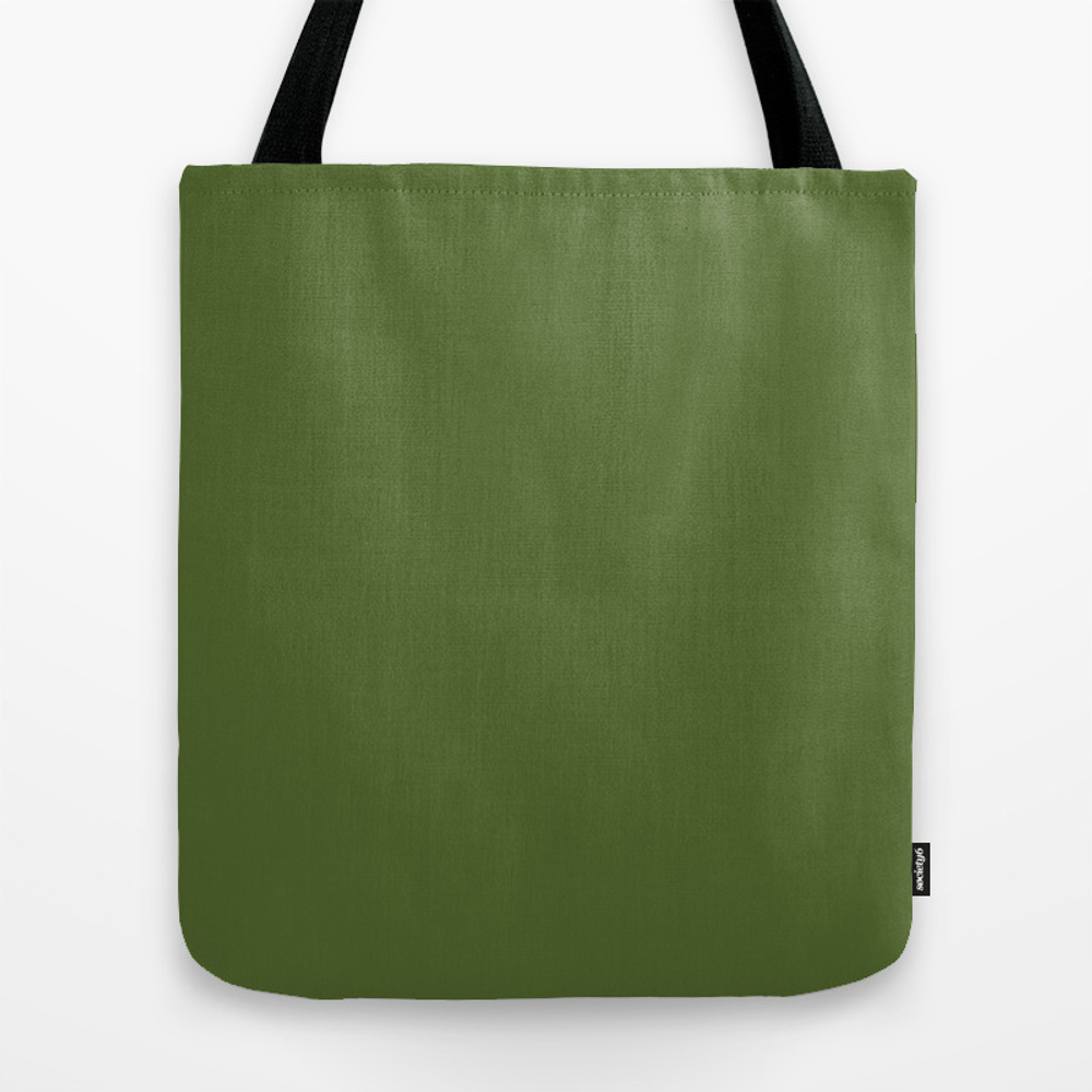 Dark Olive Green Tote Purse by Textures (TBG9745426) photo