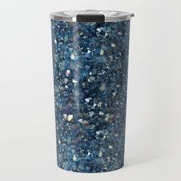 Aqua Blue Aurora Borealis Close-Up Crystal Travel Mug