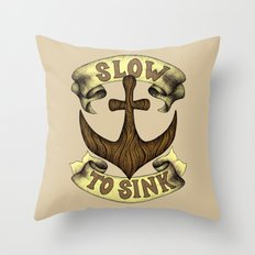 Slow to Sink Throw Pillow