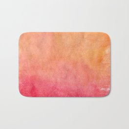 Coral Watercolor Beach Bath Mat
