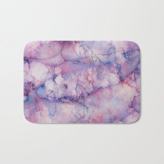 Texture Marble effect Bath Mat